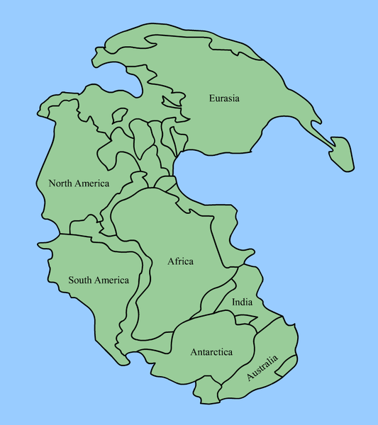 Did you know that for most of earths history the continents on the a map of pangaea the time when all the continents were one land mass click to enlarge gumiabroncs Image collections